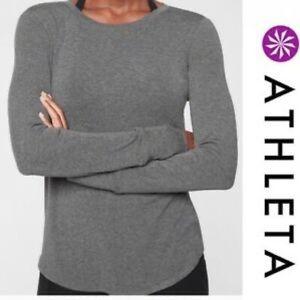 Athleta Revive Charcoal Gray Long Sleeve Top S